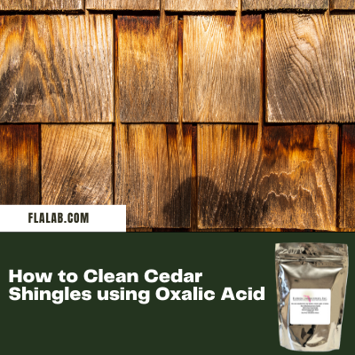 Cleaning Cedar Shingles /Oxalic Acid