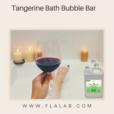 DIY Tangerine Bath Bubble Bar